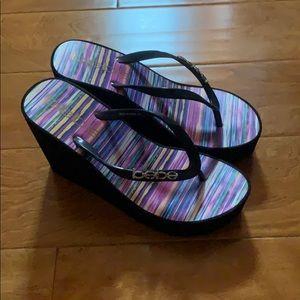 👠❤️Bebe wedge sandals.